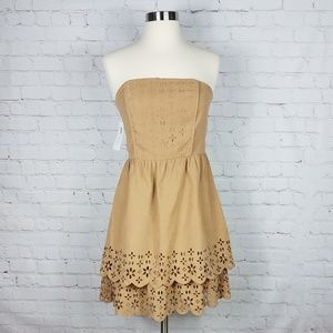 Ya Los Angeles strapless floral cutout dress